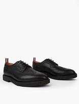 Thom Browne Black Leather Wingtip Brogues