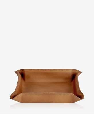 GiGi New York Medium Leather Catchall In Tan Genuine Leather