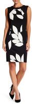London Times Jacquard Sheath Dress (Petite)
