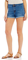 Copper Key Rolled Cuff Denim Shorts