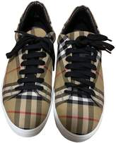 Burberry Camel Cloth Trainers