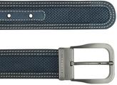 Moreschi Men's Navy Blue Perforated Leather Belt