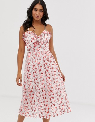 Talulah Maize printed midi dress