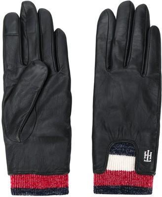 Tommy Hilfiger Signature rib cuff gloves
