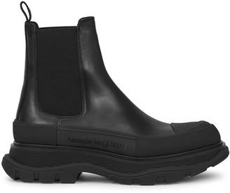 Alexander McQueen Tread black leather Chelsea boots