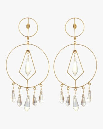 Mercedes Salazar Diamonds in Circle Crystal Earrings