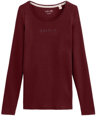 Esprit Rhinestone Logo Cotton T-Shirt