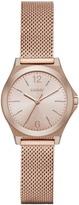 DKNY Parsons Stainless Steel Rose Gold Mesh Watch