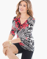 Chico's Elegant Paisley Cutout Top