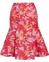 Michael Kors Floral-Jacquard Skirt