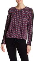 BCBGeneration Chevron Drawstring Hem Shirt