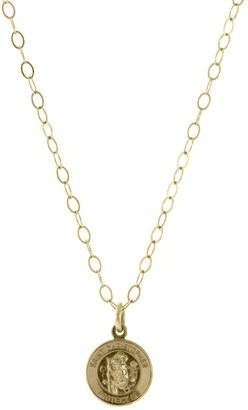 Carden Avenue St. Christopher Gold Medallion Necklace