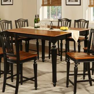 Ashworth Darby Home Co Counter Height Pub Table Darby Home Co Table Color: Black and Cherry