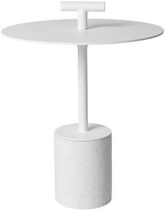Horgans Perry Outdoor Side Table White