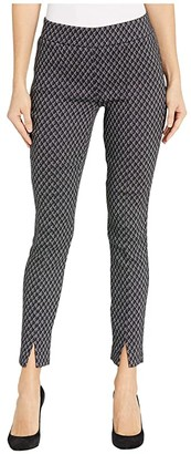 NYDJ Basic Legging Pants with Front Slit (Charcoal Diamond) Women's Casual Pants