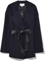 Pringle Wool Cashmere Wrap in Midnight