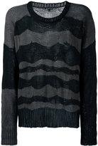 Ann Demeulemeester striped jumper - men - Cotton/Cashmere - M