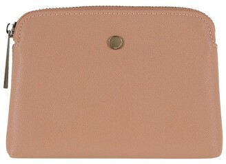 Mocha Sylvia Pebble Leather Coin Wallet - Taupe