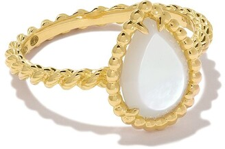 Boucheron 18kt yellow gold Serpent Boheme mother-of-pearl S motif ring