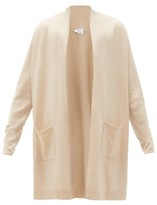 Allude High-neck Wool-blend Cardigan - Womens - Beige