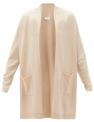 Allude High-neck Wool-blend Cardigan - Beige
