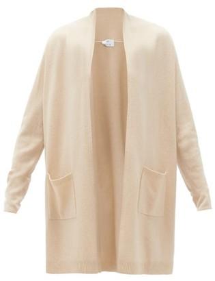 Allude High-neck Wool-blend Cardigan - Womens - Beige