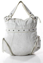 Bodhi Ivory Leather Medium Removable Strap Hobo Handbag