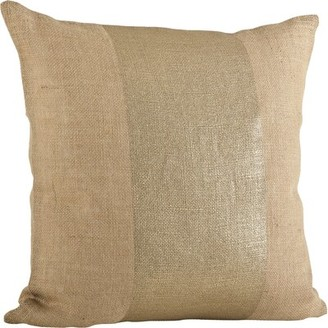 Beachcrest Home Royse Banded Cotton Throw Pillow Color: Natural