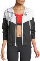 Nike Windrunner Hooded Zip-Front Track Jacket