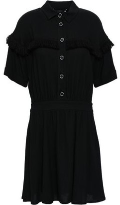 Love Moschino Frayed Twill Mini Shirt Dress