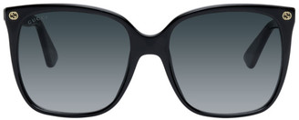 Gucci Black Oversized Acetate Sunglasses