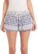 Calypso St. Barth Junia Embroidered Check Shorts