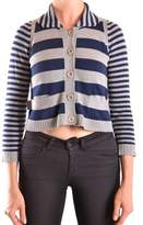 See by Chloe Women's Blue/grey Cotton Cardigan.
