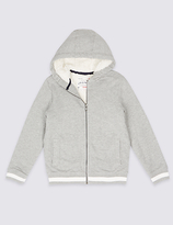 Marks and Spencer Cotton Rich Zipped Through Sweatshirt (3-14 Years)