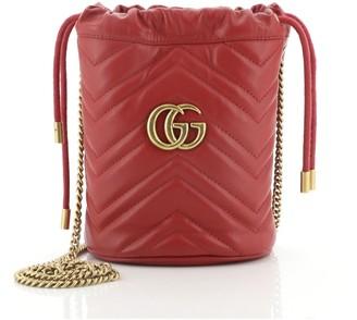 Gucci GG Marmont Bucket Bag Matelasse Leather Mini