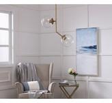 clear Vannessa 2 - Light Cluster Globe Pendant Wrought Studio Base Finish: Brass, Shade Color
