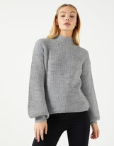Fashion Union Ladies Bloom Sleeve Jumper