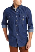 Carhartt Men's Big & Tall Flame Resistant Washed Denim Shirt