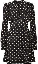 Marc Jacobs Polka-dot Silk Crepe De Chine Mini Dress