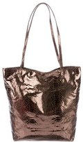 Carlos Falchi Embossed Metallic Tote