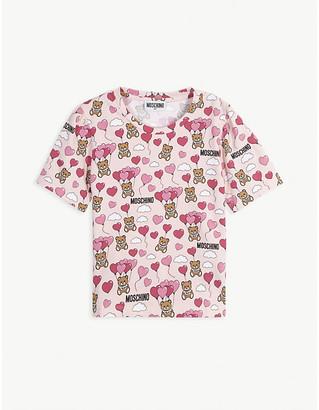 Moschino Bear and balloon print cotton T-shirt 4-14 years