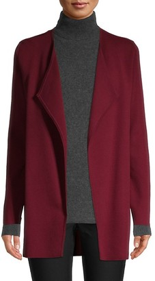 Saks Fifth Avenue Open-Front Cotton-Blend Cardigan