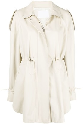 Drome Drawstring Detail Rain Coat