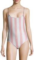 Wildfox Couture 90's Striped One Piece Swimsuit