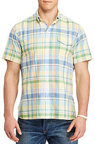 Polo Ralph Lauren Big & Tall Plaid Poplin Short-Sleeve Woven Shirt