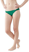 Lands' End Women's Beach Club Low Waist Bikini Bottoms-Macaw Green
