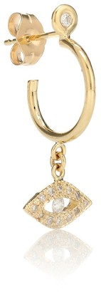 Jacquie Aiche Exclusive to Mytheresa a Evil Eye 14kt gold and diamond earring