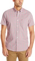 Nautica Men's Wrinkle Resistant Gingham Short Sleeve Shirt