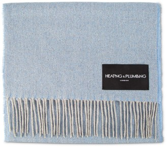 Heating & Plumbing London Love Stories - 100% Cashmere Scarf - Sky Blue & Grey