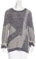 Theyskens' Theory Silk-Blend Knit Sweater